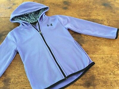 Under Armour Childs Zip Front Polyester Hoodie Boys Girls Unisex Sz 6X
