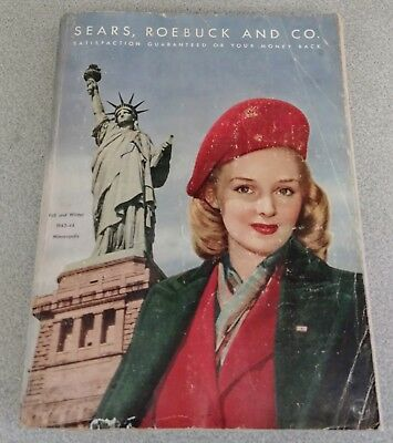 Vintage Sears, Roebuck and Co. Fall and Winter 1943-1944 Catalog