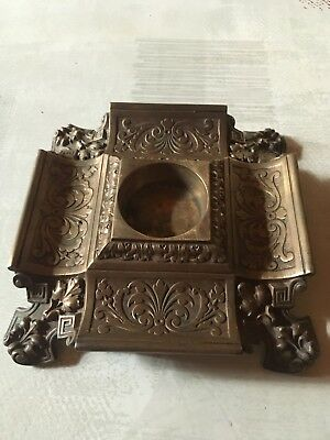 Inkwell / Encrier Ancien Bronze