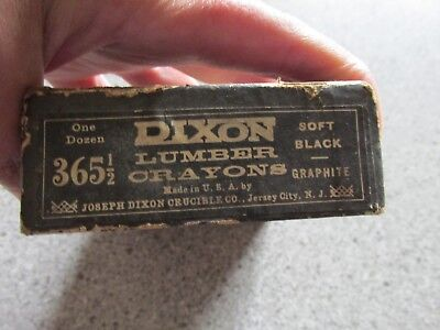 VINTAGE Lumber crayons Dixon Soft black Graphite 365 1/2 Read all of description