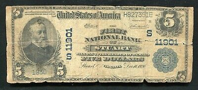 1902 $5 The First National Bank Of Stuart, Va National Currency Ch. #11901
