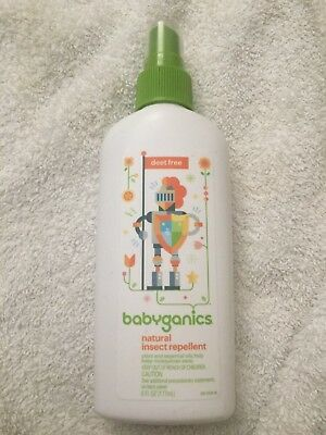 Babyganics Natural Insect Repellent, Deet Free, 6 FL oz Spray exp 2-5/2020