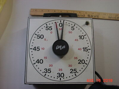 Clock Big GraLab Model Darkroom Electric Timer Tested.  Works Fine.