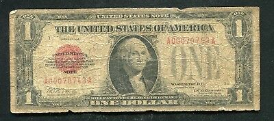 Fr. 1500 1928 $1 One Dollar Red Seal Legal Tender United States Note (C)