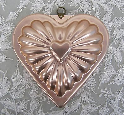 20pcs antiqued copper color 2sided heart shaped charms h2253