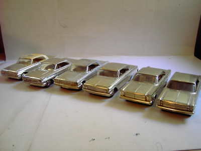 6 OLD 1960,s FORD GOLDEN PROMO TOY CARS FOR 1 BID
