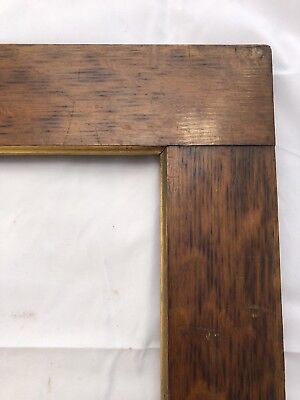Large Antique Quartersawn Oak Picture Frame