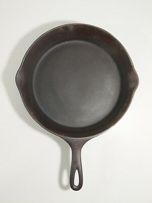Wagner Ware Sidney -O- Cast Iron #9 Skillet – #1059 B with Heat Ring