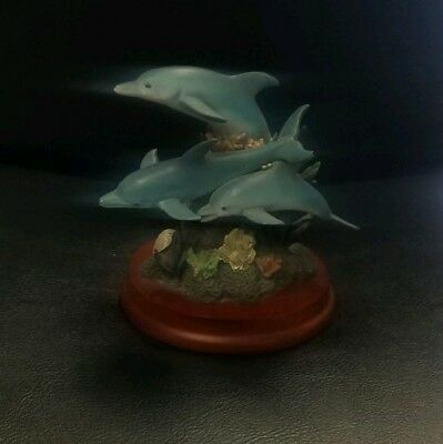 Dolphin figurines stands 6x8 trinket collection