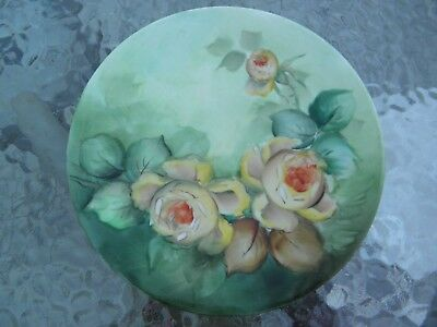 Vintage J P L Jean Pouyat Limoges France Hand Painted Porcelain Art Plate SIGNED