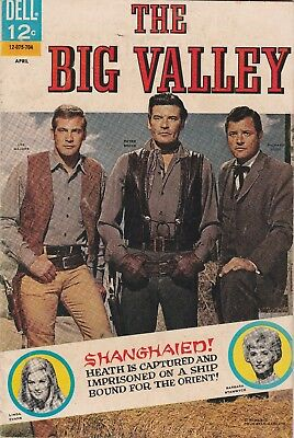 1967 Issue # 4 THE BIG VALLEY LEE MAJORS Western Silver Age Dell Comic Book