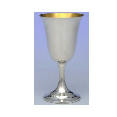 Lord Saybrook Water Goblet, Gold Wash Bowl, Sterling Silver, Excellent