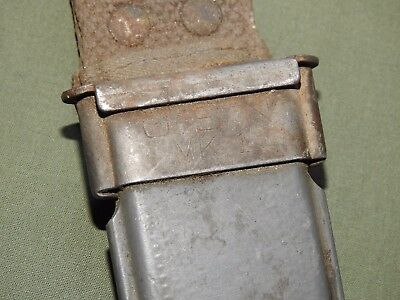 US Navy WW2 MK. 1 FIGHTING KNIFE GRAY PLASTIC SCABBARD Vtg USN Mark I Sheath