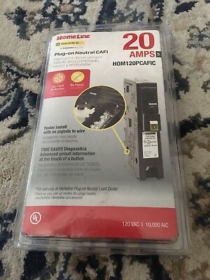 Square D by Schneider Electric HOM120PCAFIC Homeline Plug-On Neutral 20 Amp