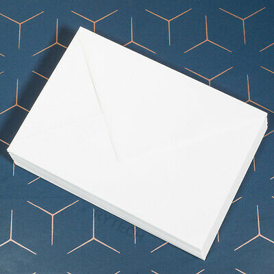 C5 White Envelopes 100gsm Diamond Flap Greeting Card A5 Wedding Invitation Craft