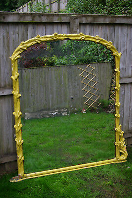 Very Large Victorian Overmantle Wall Mirror