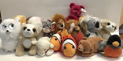 TY Beanie Babies Baby & GANZ Webkins Lot Of 18 Some Tags Or Codes Attached (D5)