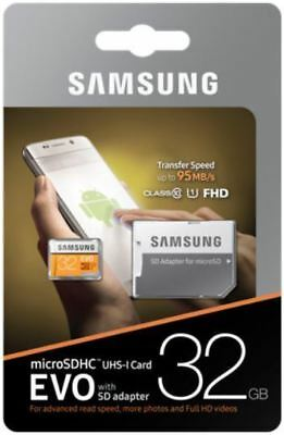 New Samsung 32GB Micro SD Card SDHC EVO 95MB/s UHS-I Class 10 UK Stock