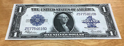 1923 $1 Large Size Blue Seal Silver Certificate Choice Crisp Uncirculated - Nice