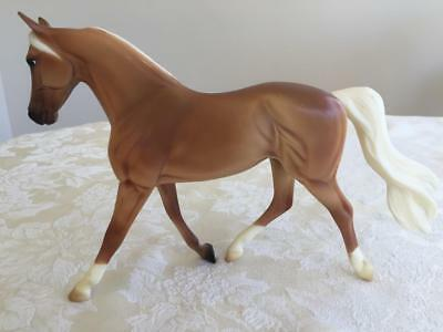 Beautiful 2008 - 2010 Breyer Morgan Mare Horse Mold 633 With Painted Pink Nose