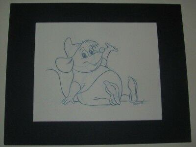 Disney / MGM Studios Animation Gus Gus Original signed Artist's sketch -Embossed