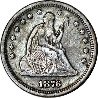 1876-S 25C Seated Liberty Quarter VF(Spots)  K4451
