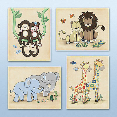 Noah S Ark Jungle Animals Nursery Baby Kids Wall Art Decor M2m