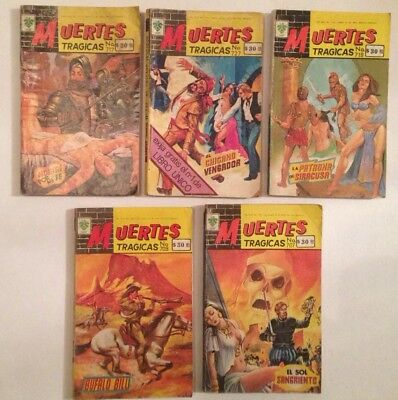 Muertes Tragicas Mexican Comic Spanish Lot Of 5