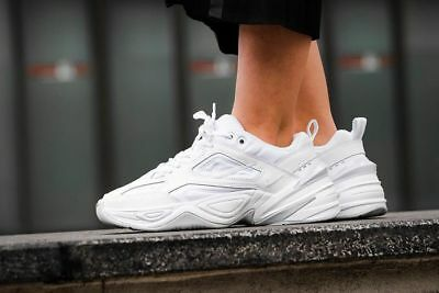 b4f95ba2af3 Women s Nike Air M2K Tekno TRIPLE WHITE ALL PLATINUM MONARCH AO3108-100 sz  8.5