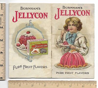 Burnham's JELLYCON Booklet 8-pg Scarce Victorian Advertising Sweets Trade Card