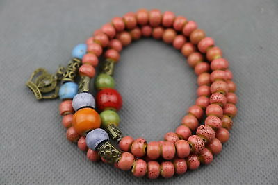 Handwork Chinese Porcelain Paint Texture Smooth Bead Delicate Girl Bracelet Gift