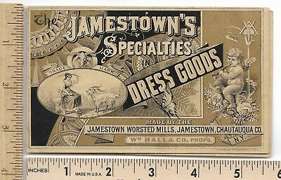 Jamestown Dress Goods Chautauqua NY Victorian Advertising Trade Card