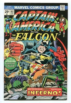 Captain America #182 - 2Nd New Cap - Nomad Fights Viper - High Grade - 1975