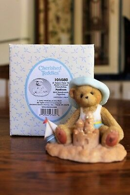 "2002 Cherished Teddies Madison ""It Takes Time To Build A Great Friendship"" NIB"