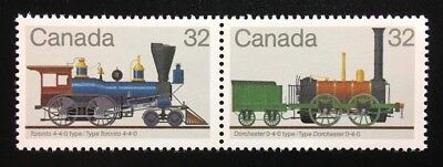 "Canada #999-1000a MNH, Canadians Locomotives ""1"" Pair of Stamps 1983"