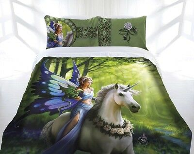 Anne Stokes Quilt Cover Set Realm Of Enchantment Queen Size Doona Cover - New