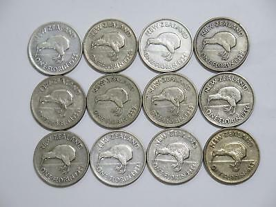 New Zealand One Florin George V Silver Early Type World Coin Collection Lot #k