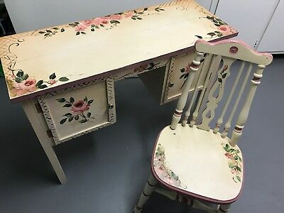Hand Painted Desk and Chair