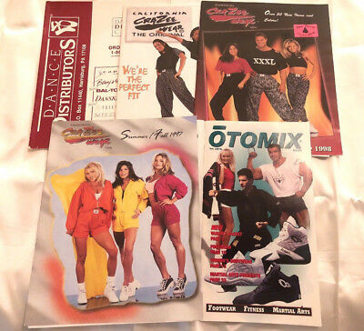 Lot of 5 Athletic and Dance Fashion Catalogs From 1990s Otomix Crazee Wear more