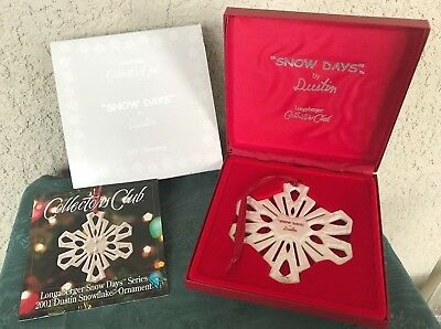 2001 LONGABERGER Collectors Club SNOW DAYS by DUSTIN Ornament MIB - FREE SHIP