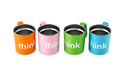 Thinkbaby Think Cup, Light Blue, Light Green, Pink and Orange