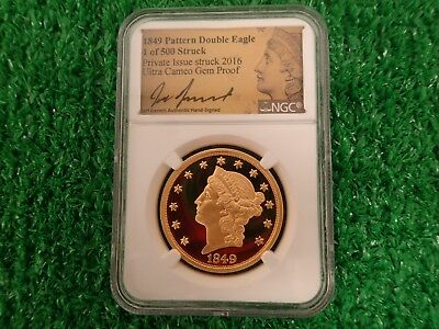 Gem Proof -- 1849 Pattern Double Eagle - 1 of 500 - 24k Gold - 1 oz.
