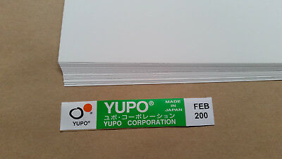 Yupo FEB200-158GSM (200 micron) Synthetic Paper 10 sheets A-4 210mmx297mm