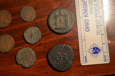 Lot of Nine 3rd Century Roman and Greek Imperial Coins