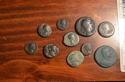 Lot of 10 2nd Century Roman and Greek Imperial Coins