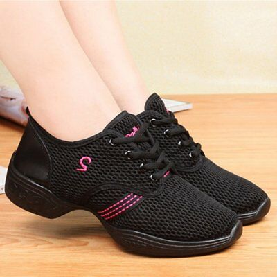 Female Dance Sneakers Soft Mesh Shoes Woman Jazz Ballroom Practicing Shoes ZJ