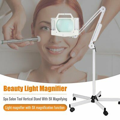 Vertical LED 5X Beauty Light Magnifier Skincare Cosmetic Makeup Nail Manicure BS
