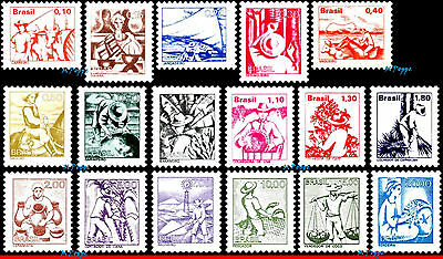 1441-57 BRAZIL 1976 1977 1978 NATIONAL PROFESSIONS, JOBS, Scott 1441 to 1457,MNH