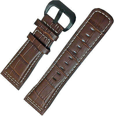 New Brown Leather Watch Strap Band Black Buckle Compatible with P1P2  M1M2 watch