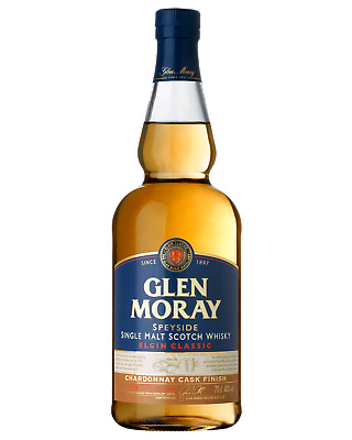 Glen Moray Chardonnay Cask Single Malt Scotch Whisky 700mL case of 6